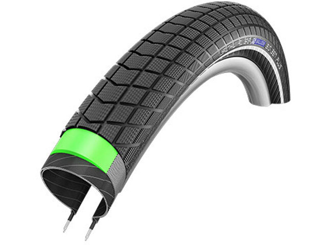 "SCHWALBE Big Ben Plus Performance GreenGuard E-50 28"" Kanttråd, refleks"
